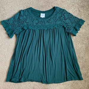 Large short sleeve top